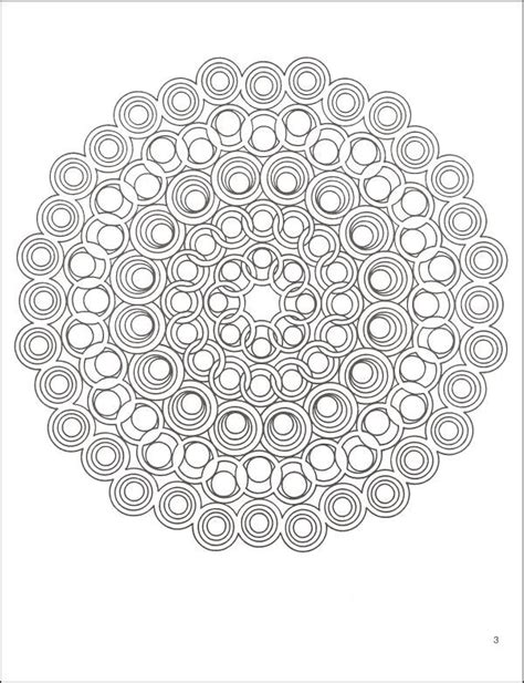 Geometric Design Coloring Page
