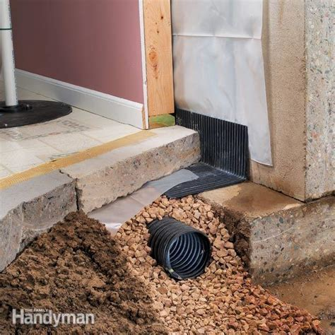Basement Drainage: Drying a Wet Basement   The Family Handyman
