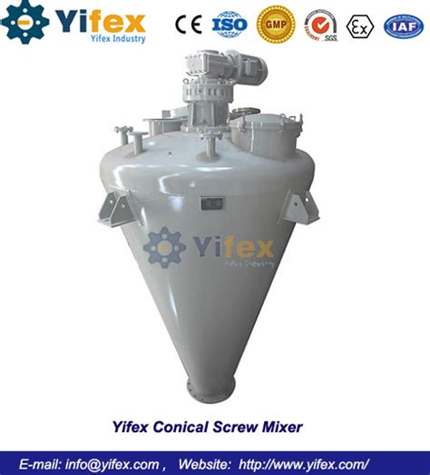 yifex conical screw mixer yifex industry  limited