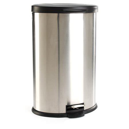 walmart kitchen garbage cans mainstays oval 10 6 gallon trash can stainless steel