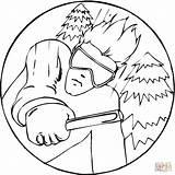 Coloring Skiing Alpine Drawing Forget Printable Sport Winter Supercoloring Getdrawings Categories sketch template