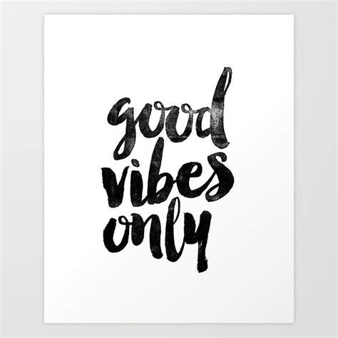 Good Vibes Only Black And White Typography Poster Blackwhite Design Home Decor Bedroom Wall Art