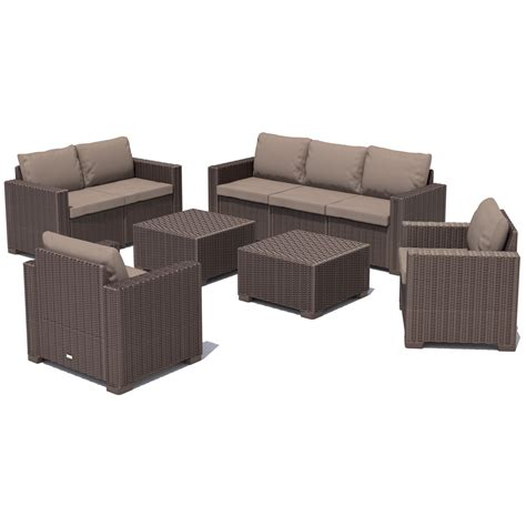 polyrattan lounge set günstig poly rattan gartenm 214 bel lounge set rattanoptik sitzgruppe garnitur 3 farben ebay