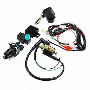 Motorcycle Ignition Key Coil Wiring Harness Kit For 50cc 110cc 125cc Dirt Bike 7591990760607