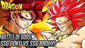 DragonBall Z: Super Saiyan God Broly VS Super Saiyan God ...