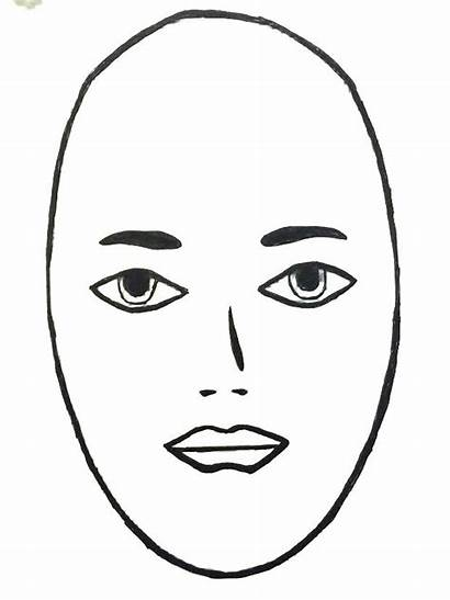 Face Clip Clipart Shape Oval Hair Nose