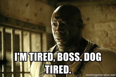 I M So Tired Meme - i m tired boss dog tired john coffey meme generator