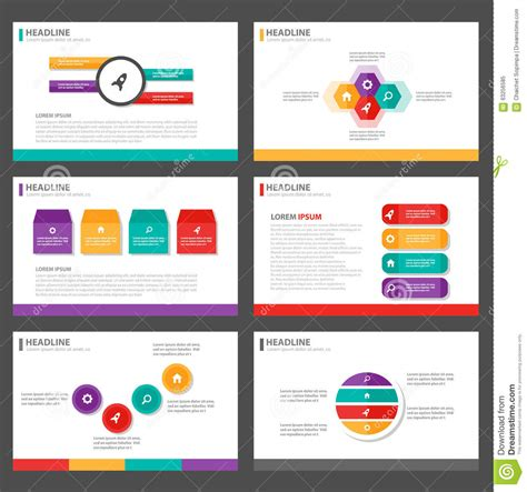 Colorful Infographic Presentation Template Brochure Flyer Colorful Infographic Elements Presentation Template Flat