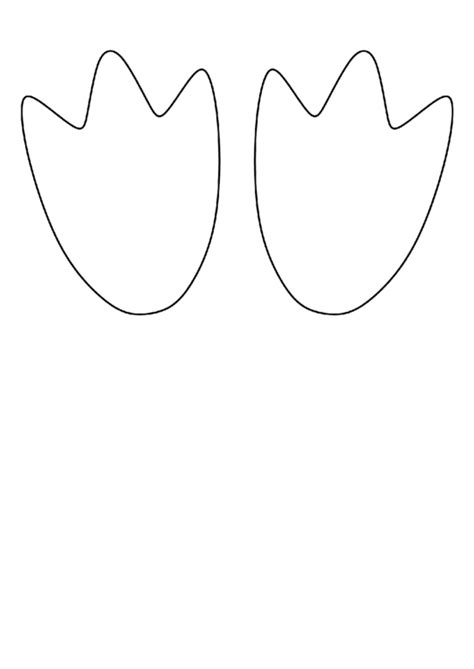 penguin feet template printable