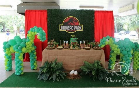 Jurassic Park Decorations - complete view of this beautiful jurassic park