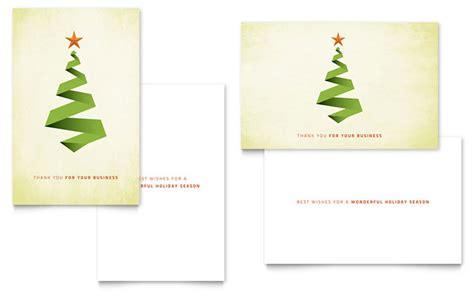 ribbon tree greeting card template design