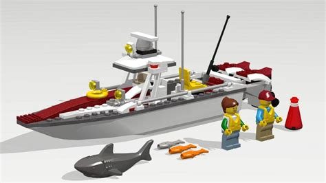 Lego City Fishing Boat Speed Build lego city 60147 fishing boat speed build instruction
