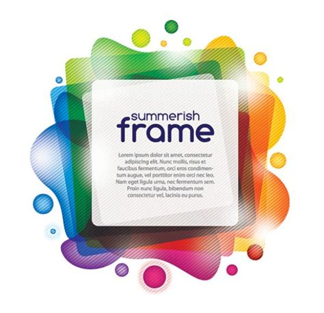 colorful photo frame vector abstract welovesolo
