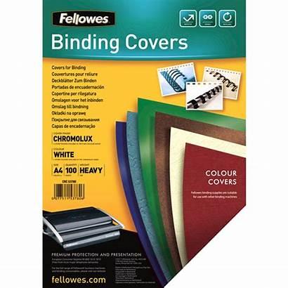 Covers A4 Chromolux Fellowes Binding Gloss Clear