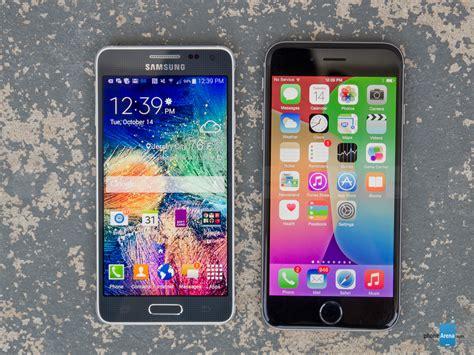 samsung galaxy s5 vs iphone 6 samsung galaxy alpha vs apple iphone 6