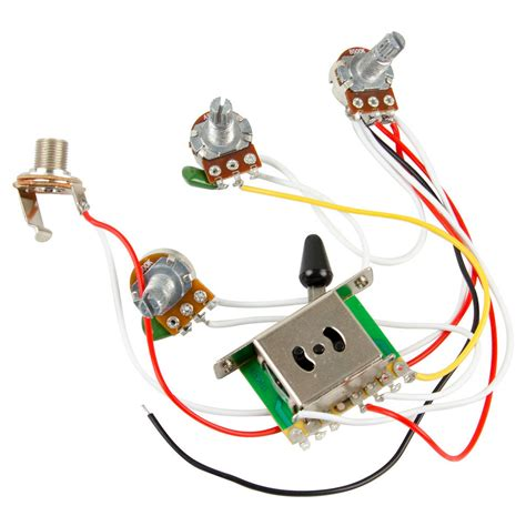 Guitar Wiring Harness Kit Way Switch Pots For