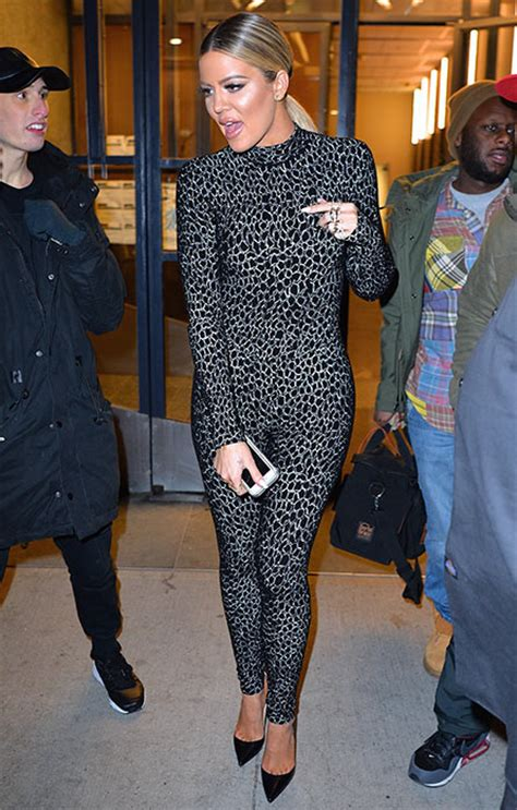 Khloe Kardashian Wears Two Sexy Catsuits In New York
