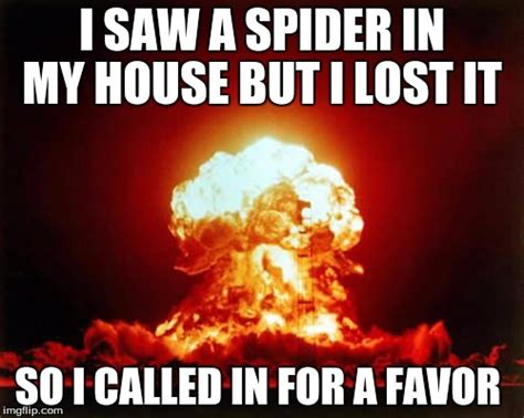 Spider In House Meme - nuclear explosion latest memes imgflip