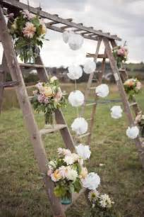 rustic wedding decor ideas how to decorate your vintage wedding with seemly useless ladders tulle chantilly wedding
