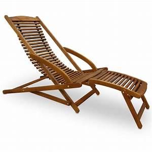 Chaise Jardin Bois : transat chaise longue bois mobilier de jardin achat vente chaise longue transat chaise ~ Teatrodelosmanantiales.com Idées de Décoration