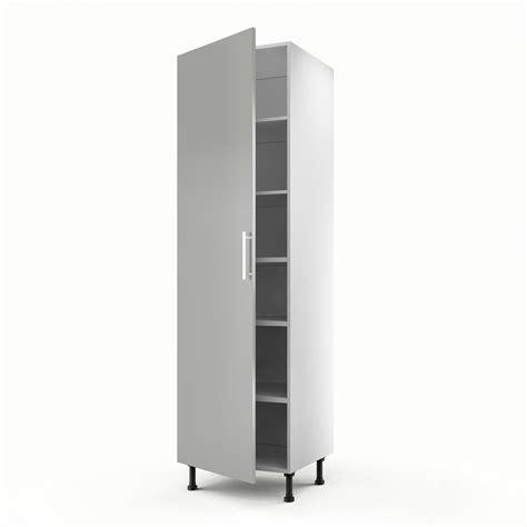 porte meuble cuisine leroy merlin meuble de cuisine colonne gris 1 porte délice h 200 x l 60