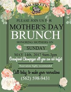 Mothers day ALL YOU CAN EAT CHAMPAGNE BRUNCH BUFFET
