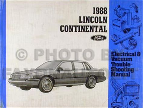 free online auto service manuals 1988 lincoln continental security system 1988 lincoln continental repair shop manual original