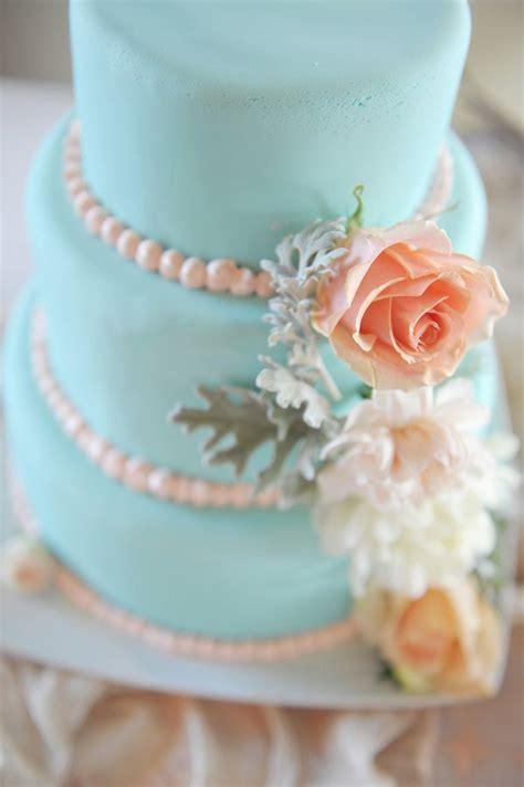 tiffany blue wedding cake  peach roses  sugar