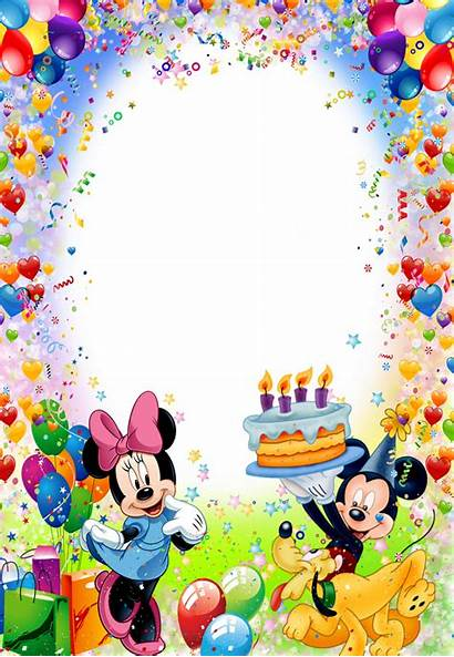 Cumpleanos Marcos Clipart Mickey Mouse Borders Frames
