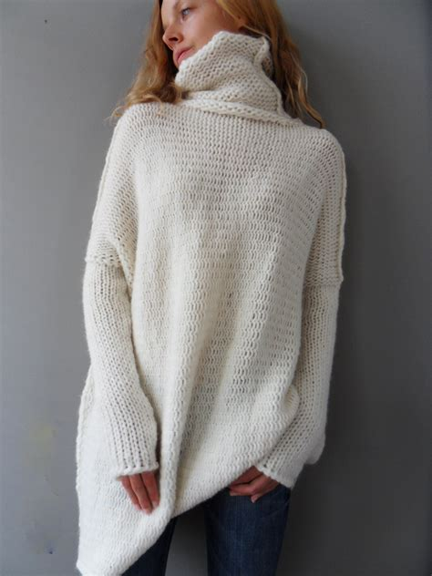 oversized sweater oversized chunky knit sweater slouchy bulky by