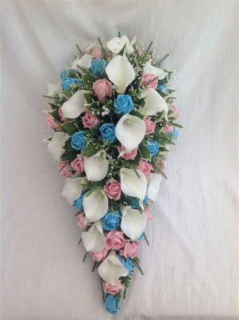 Artificial  Ee  Wedding Ee    Ee   Owers Ee   Brides Teardrop Bouquet