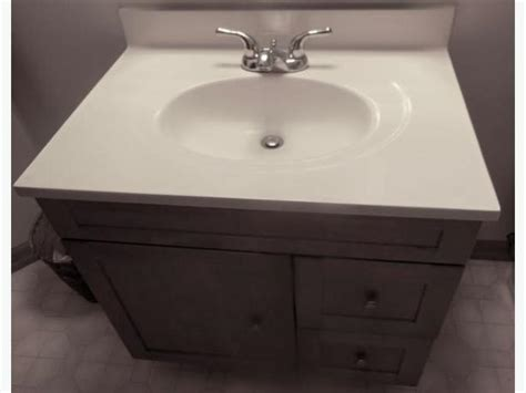 pedestal sink with built in backsplash 30 quot white cultured marble vanity top and sink with built