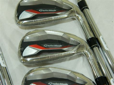 new taylormade aeroburner hl iron set 4 aw steel stiff flex irons rh aero h l used new for sale