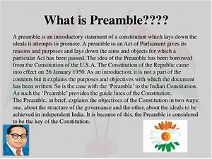 Preamble To Constitution Of India