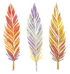 Printable Watercolor Feathers