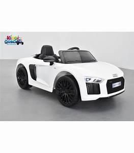 Audi R8 Enfant : audi r8 blanc spyder s tronic 12 volts pour enfant lectrique ~ Melissatoandfro.com Idées de Décoration
