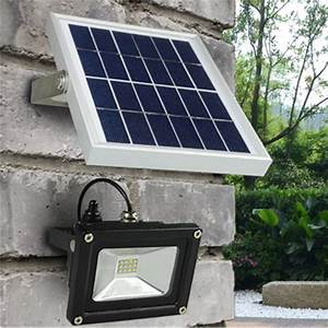ᐊ[DBF]Solar Powered LED © Flood Flood Light 10W Outdoor ...