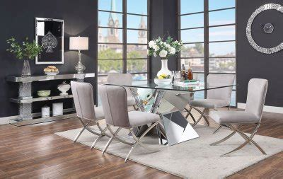 noralie dining table   mirror  acme woptions