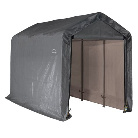 menards shed in a box shop shelterlogic 6 ft x 12 ft polyethylene canopy storage
