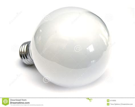 light bulb at white background royalty free stock photo