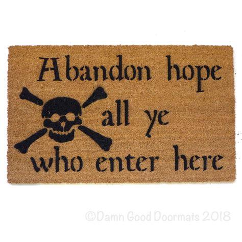 enter doormat abandon all ye who enter here dante skull and bones