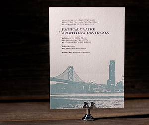letterpress wedding invitations charmed san francisco With wedding invitation printing san francisco