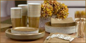 25th anniversary plates gold tableware gold party supplies party city