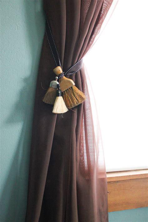 curtain tie back diy decorative curtain tie backs goodwill industries of