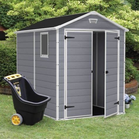 keter 6 x 6 plastic shed keter manor 6 x 8 ft storage shed storage sheds at