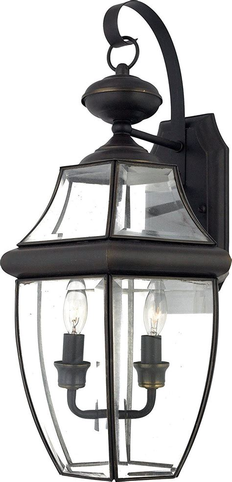 quoizel ny8317k newbury 2 light outdoor wall lantern