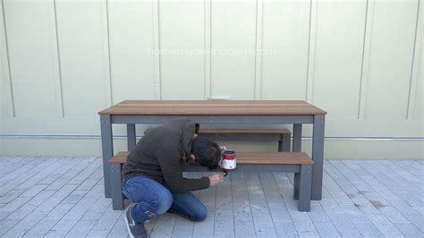homemade modern ep diy outdoor dining table