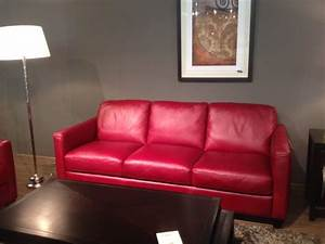 B591 sofa in red leather by natuzzi editions labor day sale for Natuzzi red leather sectional sofa