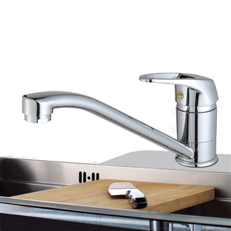 discount neck brass single hollow handle kitchen faucet