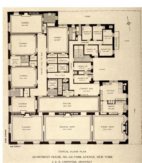 typical floor plan   park avenue  york